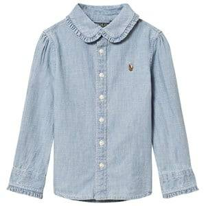 Ralph Lauren Girls Tops Blue Blue Chambray Shirt