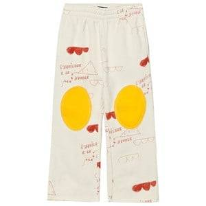 The Animals Observatory Unisex Bottoms Cream Horse Pants White Red Kites