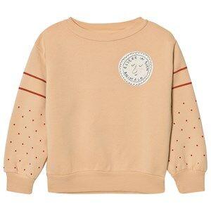 The Animals Observatory Unisex Jumpers and knitwear Cream Bear Sweatshirt Cream Stamp