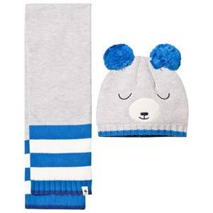 Billybandit Boys 4 Clothing sets Grey Grey Bear Hat & Scarf Set