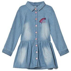 Guess Girls Dresses Blue Denim Shirt Dress