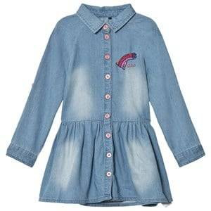 Guess Girls Dresses Blue Denim Shirt Dress