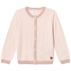 Carrément Beau Girls Jumpers and knitwear Cream Cream Lurex Rib Knit Cardigan
