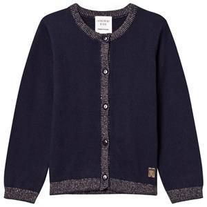 Image of Carrément Beau Girls Jumpers and knitwear Navy Navy Lurex Rib Knit Cardigan