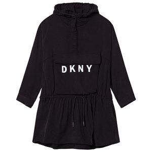 DKNY Girls Dresses Black Black Branded Hooded Dress