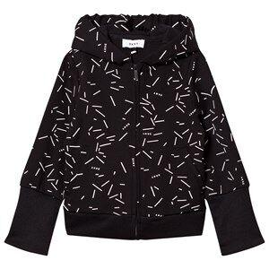 DKNY Girls Jumpers and knitwear Black Black Confetti Print Branded Hoody