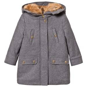 Image of Chloé Girls Coats and jackets Grey Grey Wool Coat