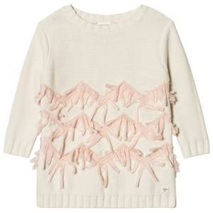 Carrément Beau Girls Dresses Cream Cream Knit Sweater Dress
