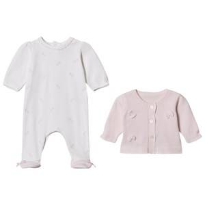 Emile et Rose Girls Clothing sets Pink Pink Cardigan and White Footed Baby Body Set