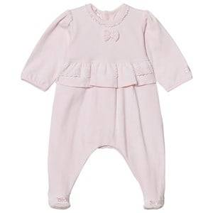 Image of Emile et Rose Girls All in ones Pink Lucia Pink Footed Baby Body with Lace Trim