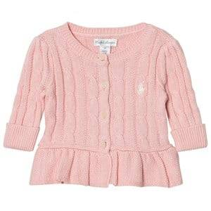 Image of Ralph Lauren Girls Jumpers and knitwear Pink Pink Classic Cable Knit Cardigan