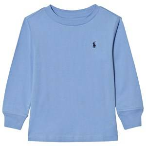 Image of Ralph Lauren Boys Tops Blue Jersey Crewneck Tee Blue