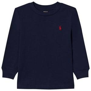 Image of Ralph Lauren Boys Tops Navy Jersey Crewneck Tee Navy
