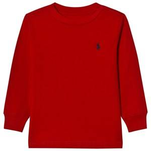 Image of Ralph Lauren Boys Tops Red Jersey Crewneck Tee Red