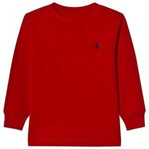 Ralph Lauren Boys Tops Red Jersey Crewneck Tee Red