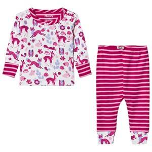 Hatley Girls Nightwear Cream Cream Forest Animal Pyjamas
