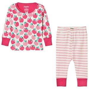 Hatley Girls Nightwear Pink Pink Apples Print Pyjamas