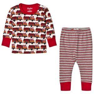 Hatley Boys Nightwear Red Red Firetruck Print Pyjamas