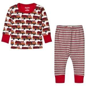 Hatley Boys Nightwear Red Red Firetruck Print Pyjamas