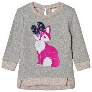 Hatley Girls Jumpers and knitwear Grey Grey Fox Print Sweatshirt