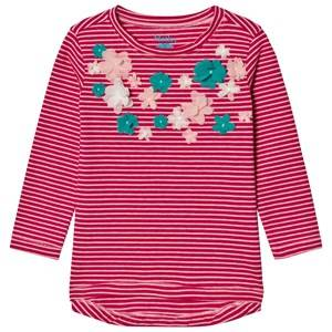 Hatley Girls Tops Pink Pink Flower Applique Tee