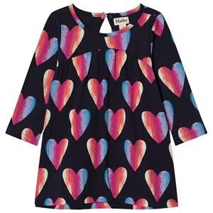Hatley Girls Dresses Navy Navy Heart Print Jersey Dress