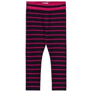 Hatley Girls Bottoms Navy Navy and Pink Stripe Leggings