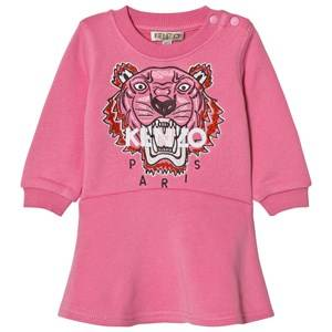 Kenzo Girls Dresses Pink Pink Tiger Embroidered Sweat Dress