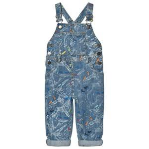 Image of Stella McCartney Kids Girls All in ones Blue Blue Scribble and Skate Rudy Overalls