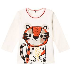 Catimini Boys Tops Cream Cream Tiger Print Tee