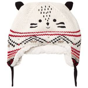 Catimini Boys Headwear Cream Knit Tiger Hat