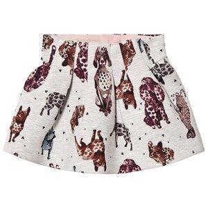 Catimini Girls Skirts Grey Grey Dog Print Skirt