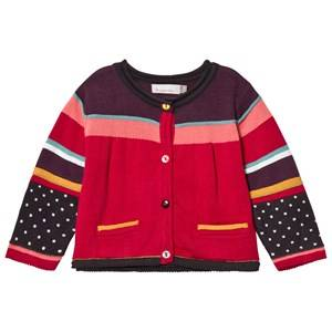 Image of Catimini Girls Jumpers and knitwear Pink Multi Stripe Cardigan