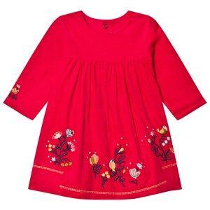 Catimini Girls Dresses Pink Pink Floral Micro-Cord Dress