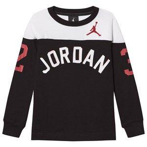 Air Jordan Boys Tops Black Jordan Long Sleeve Tee