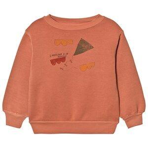 The Animals Observatory Unisex Jumpers and knitwear Orange Bear Sweatshirt Deep Orange Kite