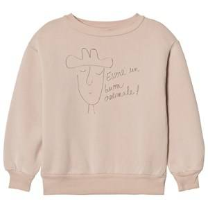 The Animals Observatory Unisex Jumpers and knitwear Pink Bear Sweatshirt Pink Hat