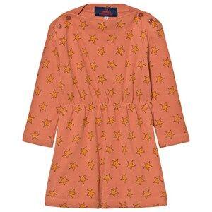 Image of The Animals Observatory Girls Dresses Orange Crab Dress Deep Orange Stars
