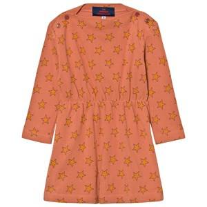 Image of The Animals Observatory Girls Dresses Orange Crab Dress Deep Orange Stars