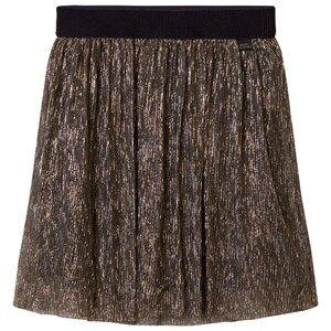 Little Marc Jacobs Girls Skirts Gold Gold Pleated Midi Skirt
