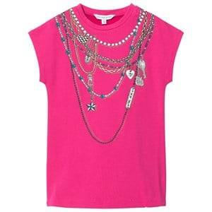 Image of Little Marc Jacobs Girls Dresses Pink Pink Necklace Jersey Dress