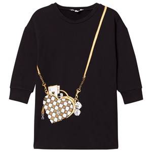 Image of Little Marc Jacobs Girls Dresses Black Black Bag Jersey Long-Sleeve Dress