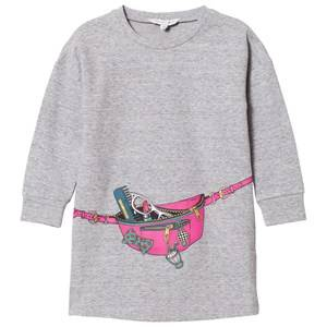 Image of Little Marc Jacobs Girls Dresses Grey Grey Bag Jersey Long-Sleeve Dress