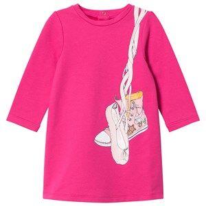 Little Marc Jacobs Girls Dresses Pink Pink Shoes Jersey Long-Sleeve Dress
