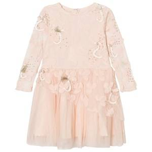 Billieblush Girls Dresses Pink Pale Pink Tulle, Sequins Embroidered Dress