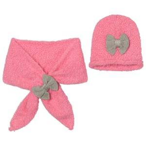 Billieblush Girls Headwear Pink Pink Silver Bow Hat Scarf Set