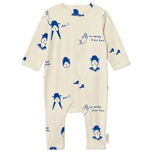 Tinycottons Unisex All in ones Beige No-Worry Dolls One-Piece Beige/Blue