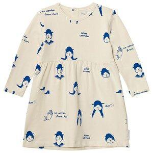 Tinycottons Girls Dresses Beige No-Worry Dolls Dress Beige/Blue