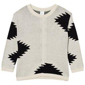 Tinycottons Unisex Jumpers and knitwear Beige Big Folk Elements Knit Cardigan Beige/Black