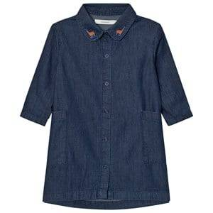 Tinycottons Girls Dresses Blue Denim Shirt Dress